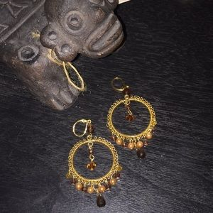 Cookie Lee Beaded and Wire Earrings